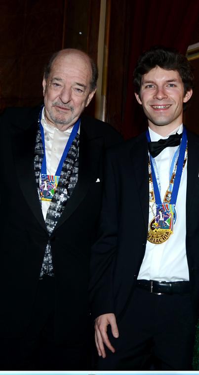 Michi Glück mit Ralph Siegel
